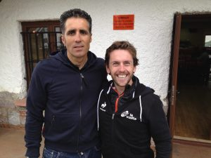 Miguel Indurain and Tobais Mews