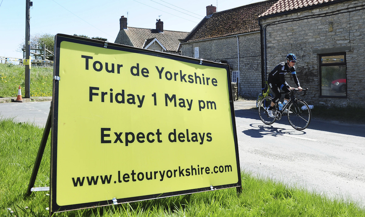 Tour de Yorkshire Delays